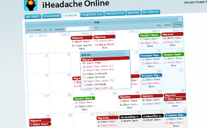 Large Headache Calendar